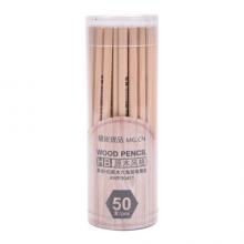 晨光(M&G)文具经典HB木杆铅笔 原木学生铅笔 木质铅笔 50支/桶AWP30411