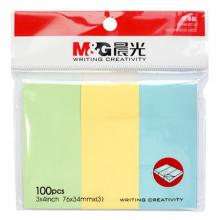 晨光(M&G)便条贴 优事贴3X4彩色便签纸100页 留言贴 办公学习备忘 YS-14