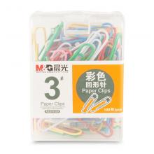 晨光(M&G)3号彩色回形针100/200/160枚 办公专用彩色回形针彩色 单盒装 3号彩色100枚ABS91699