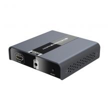 朗强LCN6393 超高清2.0HDMI网线延长器4K60Hz hdmi转RJ45单网络传输120米 4K高清网络 发送器+接收器