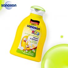 哈罗闪(sanosan)儿童洗发沐浴露二合一200ml 洗发水 沐浴乳 (香蕉香型)德国原装进口