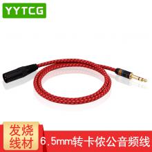 YYTCG 6.5转卡侬公音频线XLR卡农线转6.35mm大三芯调音台连接线功放音箱线 发烧平衡线 一根 5.0米