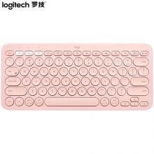罗技(Logitech)K380 键盘 无线蓝牙键盘 办公键盘 女性 便携 超薄键盘 笔记本键盘 茱萸粉 限量版