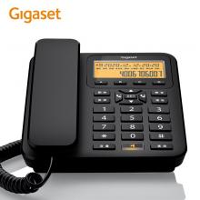 Gigaset原西门子电话机座机 固定电话 大音量免提 夜间背光 座式壁挂老人固话DA660商务版黑