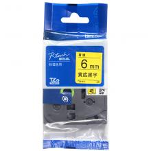 兄弟(brother)TZe-Z611 6mm黄底黑字标签色带 TZe-611升级版