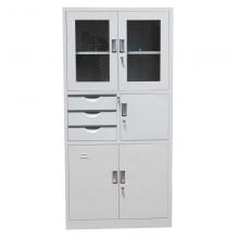 办公室文件柜铁皮柜子带锁抽屉式带密码储物柜加厚钢板0.7mm   1850宽900深390