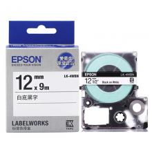 爱普生(EPSON)LK-4WBN 标签机色带 12mm 白底黑字(LW-K400L/LW-600P/LW-700/LW-1000P/LW-Z700/LW-Z900)