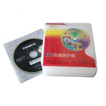 信发(TRNFA)加厚光盘袋 无纺布芯保护套 透明pp袋 100张/包