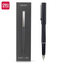得力(deli)EF明尖钢笔 沉稳办公墨水笔 黑DL-S160EF