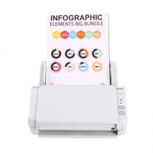 富士通(Fujitsu)SP-1130扫描仪 A4高速高清彩色双面自动馈纸