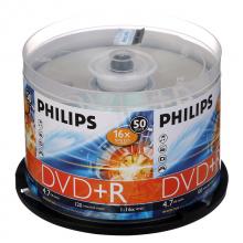 飞利浦(PHILIPS)DVD+R空白光盘/刻录盘 16速4.7G 桶装50片