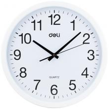 得力 白色圆形挂钟 9006(37cm)