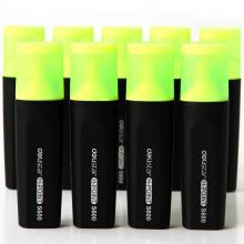 得力(deli)黄色荧光笔重点醒目标记笔手帐可用水性记号笔10支/盒