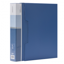得力(deli)A4/80页大容量资料册 文件收纳册 活页插袋文件夹办公用品5006