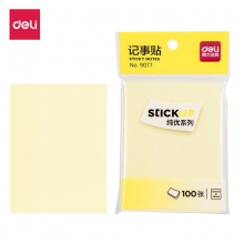 得力(deli) 创意便利贴便签纸本小本子记事本大便条纸 单包装淡黄9077(76*101mm)