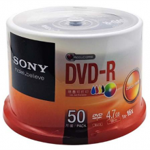 索尼(SONY) DVD-R 光盘/刻录盘 16速4.7G 桶装50片 6桶/箱