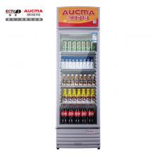 澳柯玛(AUCMA)327升 立式单门家用商用展示柜 冷藏饮料茶叶保鲜柜 啤酒冷饮玻璃门冰柜SC-327NE