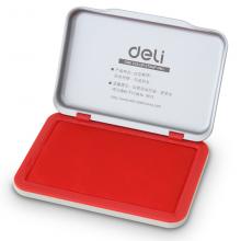 得力(deli) 9891 印章印台 印迹清晰 不晕染 铁盒装 红色办公用品双个装