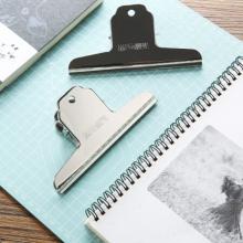 晨光(M&G)文具145mm山形票夹 办公金属财务票据夹 不锈钢夹子画板夹 2个装ABS92639
