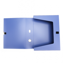 晨光(M&G)文具A4/55mm蓝色粘扣档案盒 办公加厚文件盒 睿智系列党建资料盒/财务凭证收纳盒 10个装ADMN4022