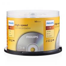 飞利浦(PHILIPS)CD-R空白光盘/刻录盘 52速700M 桶装50片