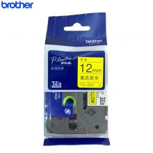 兄弟(brother)TZe-Z631标签色带 黄底/黑字 12mm 原装正品 黄色