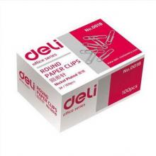得力(Deli) 0018 回形针29毫米金属原色 100枚/盒