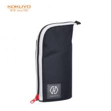 国誉(KOKUYO)Highlu大容量笔袋办公笔筒黑红色1个装 F-VBF220-1