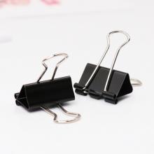 益而高(EAGLE)19mm黑色长尾夹 小号金属燕尾夹子票据夹办公文具 单盒装 TY145