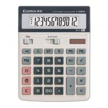 齐心(COMIX)12位大台舒视办公计算器 新老包装随机发货 办公文具 C-1200H 1个