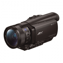 索尼(SONY)FDR-AX100E 4K高清数码摄像机 1英寸CMOS 光学防抖 12倍光学变焦 蔡司镜头 支持WIFI/NFC传输