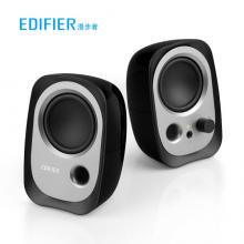 漫步者(EDIFIER)R12U 外观时尚、音质纯正的入门级微型2.0桌面音响 笔记本音箱 电脑音箱 黑色