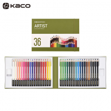 KACO 艺彩36色彩色铅笔套装 专业学生画笔美术手绘软头可水洗勾线笔 艺彩36色彩铅  36支/盒