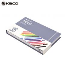 KACO 艺彩36色双头水彩笔套装 36色彩铅 艺彩36色水彩笔 36支/套