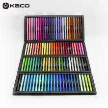 KACO 艺彩100色双头水彩笔套装 专业学生画笔美术手绘软头可水洗勾线笔 艺彩100色手提包装 100支/套