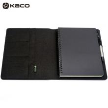 KACO 笔记本套装 ALIO爱乐A5商务办公防水笔本会议记录本套装活页记事本 黑色