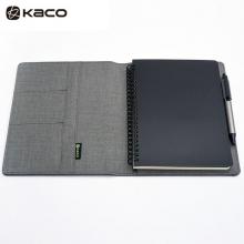 KACO 笔记本套装 ALIO爱乐A5商务办公防水笔本会议记录本套装活页记事本 灰色