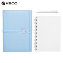 KACO ALIO爱乐商务笔记本套装 办公笔记本子会议记录本年会定制礼品礼盒 海水蓝