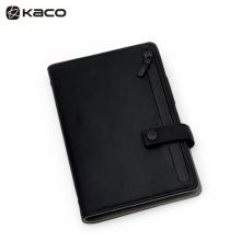 KACO 乐记B6活页日程本 UP皮面笔记本子套装 黑色 1本/盒