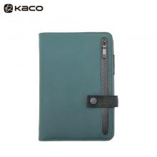 KACO 乐记B6活页日程本 UP皮面笔记本子套装 绿色 1本/盒