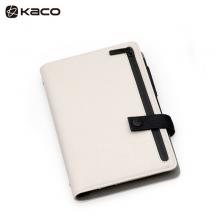 KACO 乐记B6活页日程本 UP皮面笔记本子套装 米白 1本/盒