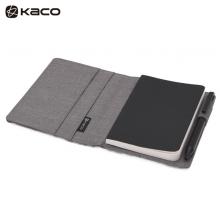 KACO 爱乐A6笔记本套装 随身本套装商务办公笔记本子本册 灰色封面+黑色PU本 1本/盒