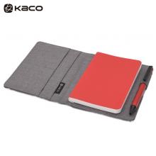KACO 爱乐A6笔记本套装 随身本套装商务办公笔记本子本册 灰色封面+红色PU本 1本/盒