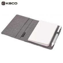 KACO 爱乐A6笔记本套装 随身本套装商务办公笔记本子本册 灰色封面+白色PU本 1本/盒
