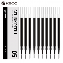 KACO亚规笔芯中性笔芯0.5mm 按动签字笔替芯 亚规黑色替芯 10支/盒