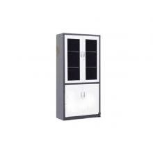 昊丰FY-W11灰白对开玻璃文件柜