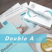 Double A 纵柔纯柔(硬盒装)抽取式面纸3层厚实柔软130抽/盒 3盒/提 12提/箱装