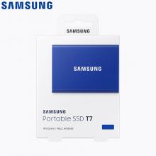 三星(SAMSUNG) 500GB Type-c USB 3.1 移动固态硬盘(PSSD) T5 蓝色 传输速度540MB/s 安全便携