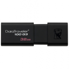 金士顿Kingston  32GB USB3.0 U盘 DT100G3 黑色