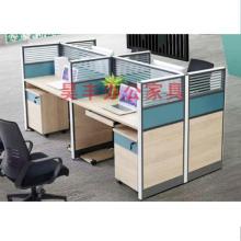 昊丰王字型四人办公位HF-20566